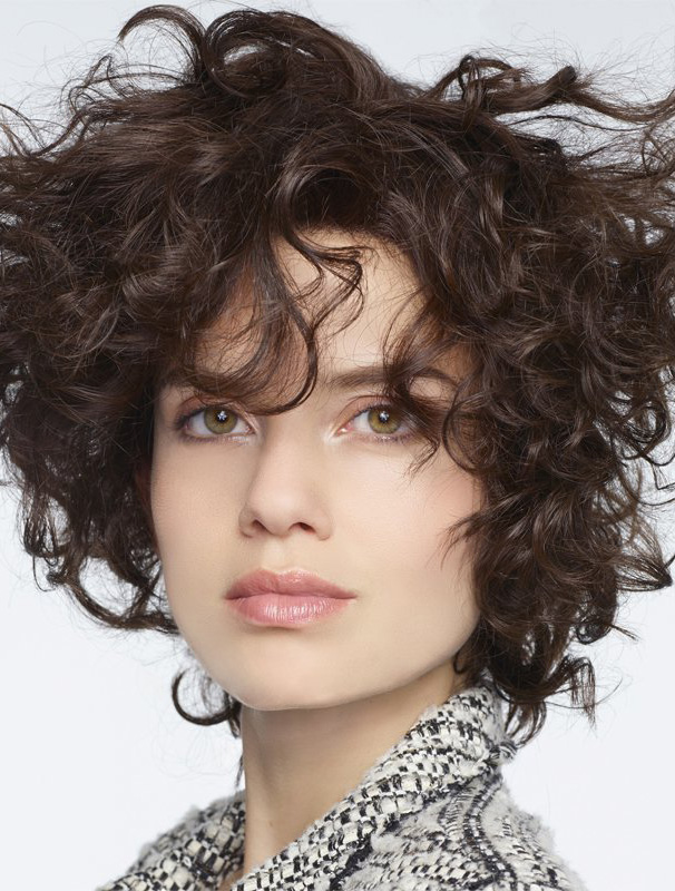 Brown Curly Long Human Hair Wigs