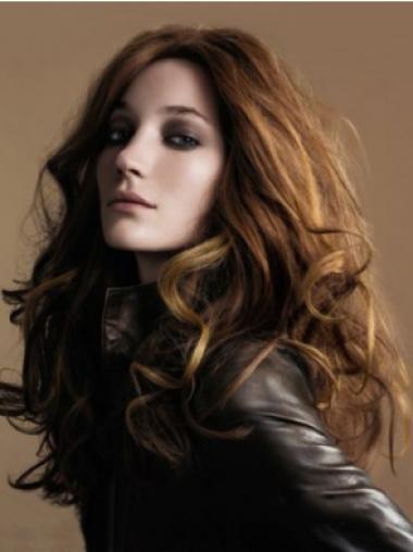 Best Brown Full Lace Wavy Long Human Hair Wigs