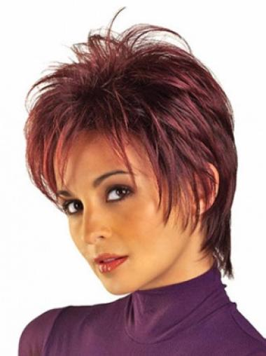 The Newest Red Capless Straight Synthetic Short Wigs