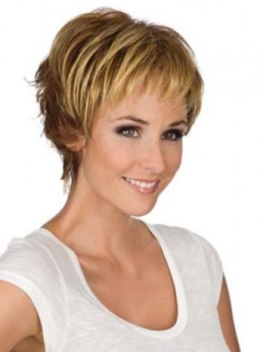 Blonde Perfect Monofilament Wavy Synthetic Short Wigs