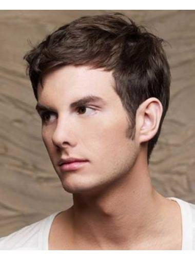 Straight Brown Popular Men Wigs