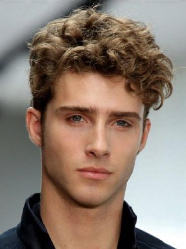Short Soft Wavy Synthetic Mens Wig