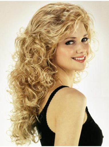 Beautiful Curly Synthetic With Bangs Wig