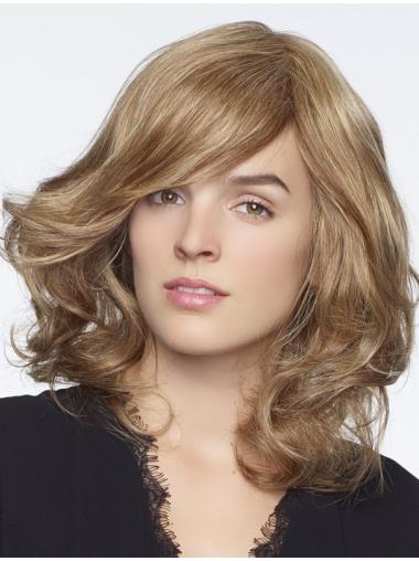 "Blonde 14"" With Bangs 100% Hand-tied Wigs"