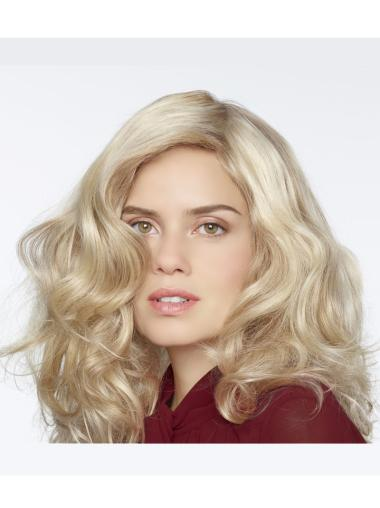 """Blonde 18"""" Without Bangs 100% Hand-tied Wigs"""