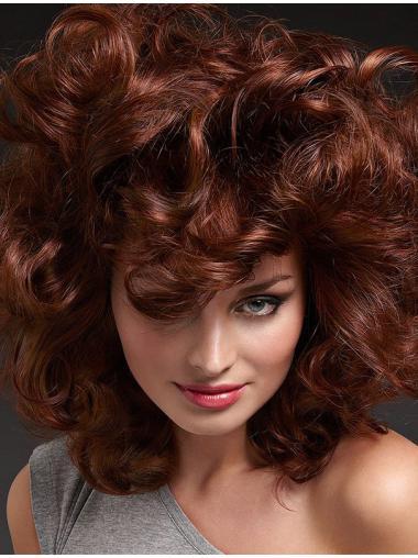 "Auburn 16"" Layered 100% Hand-tied Wigs"