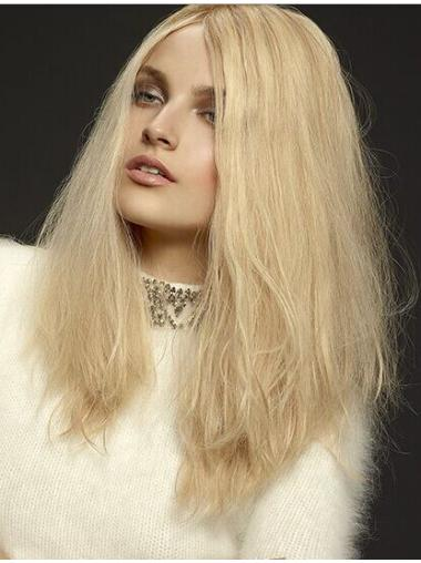 Blonde Wavy Layered Lace Front Wigs