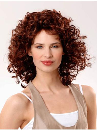 Fashionable Layered Auburn Human Hair Wigs