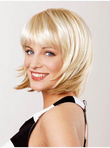Stylish Blonde Lace Front Bob Wigs