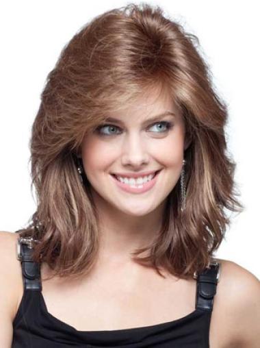 Auburn Wavy Popular Remy Human Hair Wigs