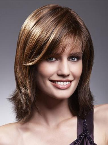 Brown Straight Incredible Remy Human Hair Wigs