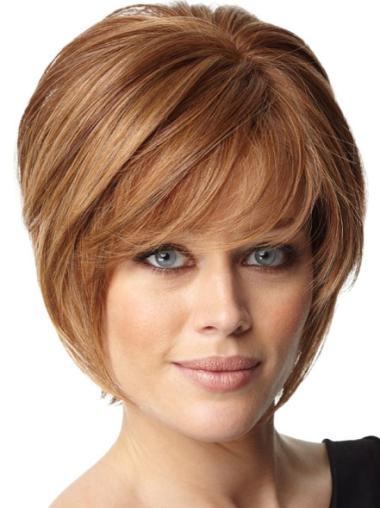 Capless Remy Human Hair Modern Wigs