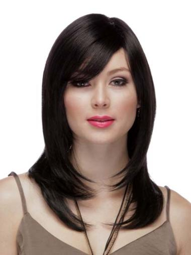 "Best Auburn Full Lace Straight 16"" Human Hair Wigs"