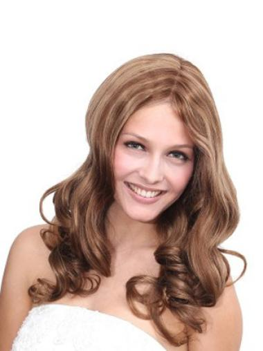 Sassy Brown Full Lace Wavy Long Human Hair Wigs