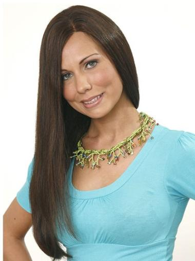 Best Brown Capless Straight Long Human Hair Wigs