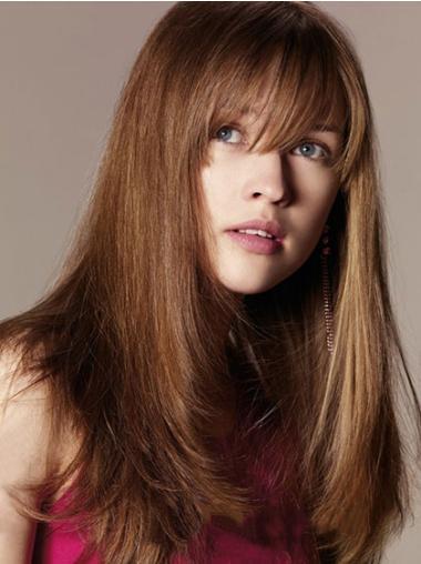 "Flexibility Auburn Capless Straight 16"" Human Hair Wigs"