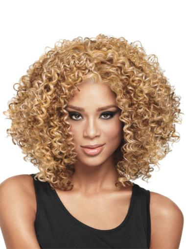 Fabulous Medium Curly Capless African American Wigs