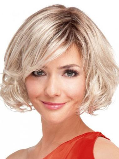 Synthetic Blonde Full Lace Curly Wigs
