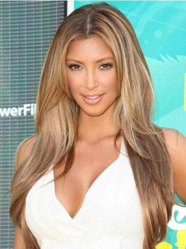 Remy Human Hair Monofilament Straight Celebrity Wigs
