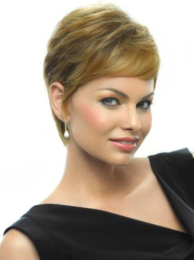 Beautiful Capless Blonde Straight Synthetic Short Wigs