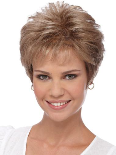 Suitable Quality Capless Blonde Curly Synthetic Short Wigs