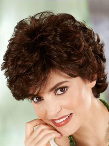 Auburn Fashion Capless Curly Synthetic Short Wigs