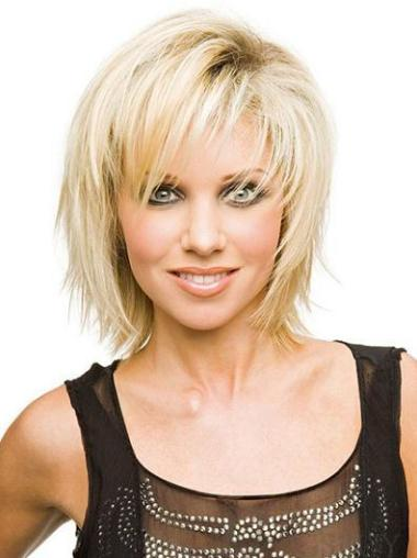 Straight Synthetic Short Capless Blonde High Quality Wigs