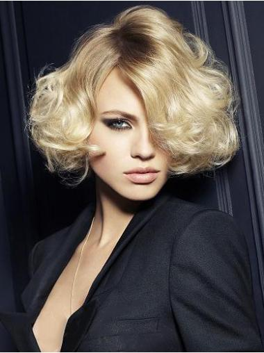 Wavy Synthetic Short Capless Blonde Modern Wigs