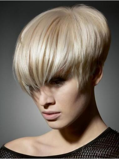 Straight Synthetic Short Capless Blonde Hairstyles Wigs