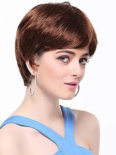 Straight Synthetic Short Capless Auburn Great Wigs