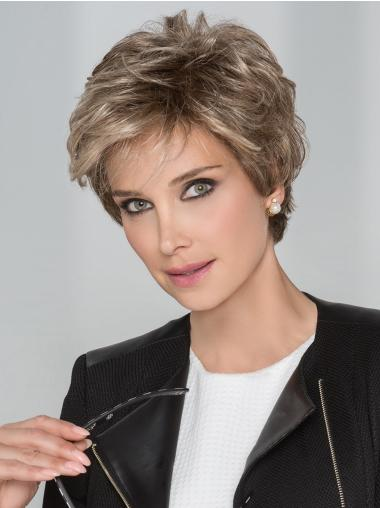 Boycuts Straight Cropped Blonde Handtied Wigs