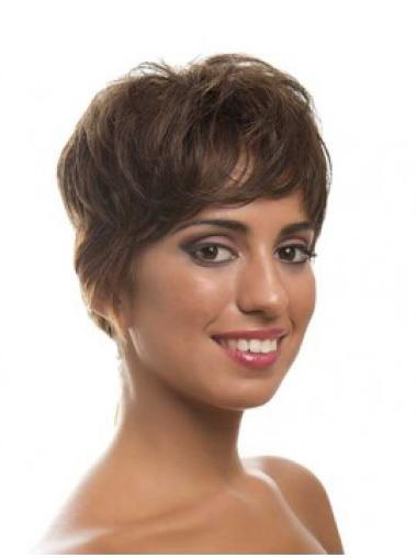 Layered Brown Sleek Full Lace Wigs