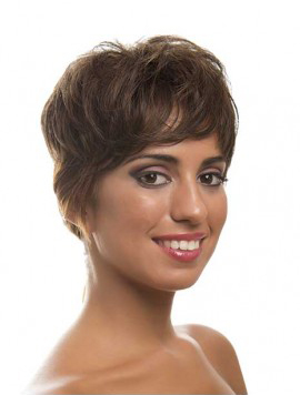 Layered Brown Sleek Full Lace Wigs